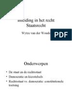 Inleiding in Het Recht Staatsrecht 2012