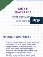 Calculate Cost Buruh