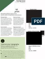 Setting Up Print Blacks & Typographic Tips