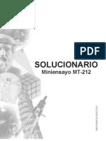 Solucionario Miniensayo MT 212