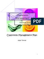 Classroom Management Plan 3