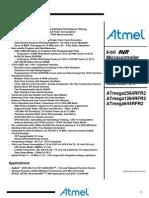 Atmel 42073 MCU Wireless ATmega2564RFR2 ATmega1284RFR2 ATmega644RFR2 Datasheet