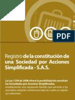 Registro de Una Constitucion de Una Sas