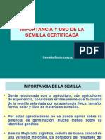 Importancia y Uso Semilla Certificada