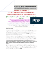 Indicaciones y Contraindicaciones de La Oxigenoterapia Hiperbarica
