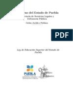 Ley de Educacin Superior Del Estado de Puebla