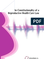 Constitutionality of the Reproductive Health Care Law - EnGendeRights Jan 2012
