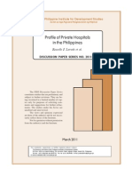 2011 PIDS_ Profile of Private Hospitals in the Philippines