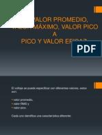 VALOR PROMEDIO, VALOR MÁXIMO, VALOR PICO.pptx