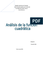 analisis funcion cuadratica