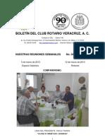 Boletín Rotario del 5 de marzo de 2013