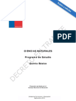 Programa C.N 5° básico