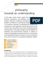 Research Philosophy Towards an Understanding