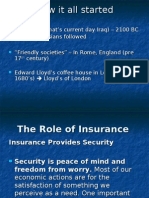 The Role of Insurance