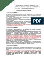 Direito Administrativo- Simulado de Direito Administrativo Com Gabarito Comentado Para o Concurso Da Policia Civil e Do Cfo