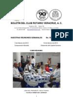Boletín Rotario del 5 de febrero de 2013