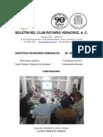 Boletín Rotario del 29 de enero de 2013