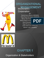 Organizational Management - McDonald's