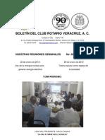 Boletín Rotario del 22 de enero de 2013