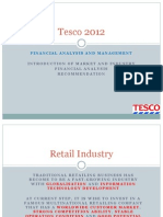 Financial Analysis on Tesco 2012