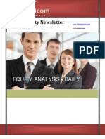 Daily equity news letter 11March2013