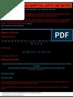Rifts - Palladium Martial Arts Netbook