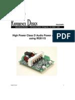 High Power Class D Audio Power Amplifier Using IR2011S