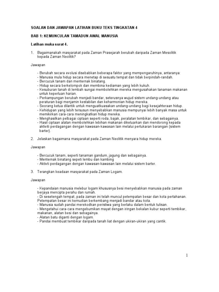Jawapan Modul Jaya Sejarah Tingkatan 5 | Nanikalux