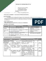 UNIDAD DE APRENDIZAJE EDUCACION PARA EL TRABAJO.doc