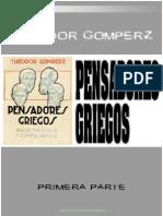 Gomperz Pensadores Griegos Tomo 1