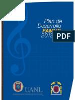 Plan de desarrollo de la Facultad de Música 2012
