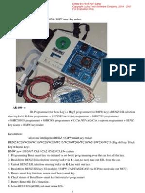 benz/bmw smart key maker AK400 Manual   Microcontroller