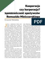 Krzysztof Wołodźko - Kooperacja czy korporacja Spółdzielczość spożywców Romualda Mielczarskiego.pdf