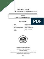Cover Dan Lembar Pengesahan Praktikum ALPRO