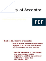 Liability of Acceptor