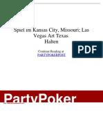 - Spiel Im Kansas City, Missouri; Las Vegas Art Texas _Halten