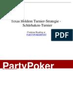 - Texas Holdem Turnier-Strategie - _Schürhaken-Turnier