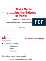 Mass Media and power