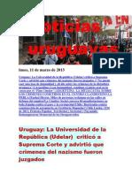Noticias Uruguayas Lunes 11 de Marzo Del 2013
