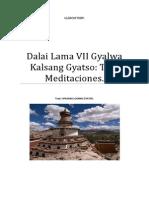 VII Dalai Lama Gyalwa Kalsang Gyatso Tres Meditaciones