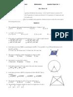 9 Maths Paper 2