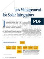 Operation Management for Solar Integrator