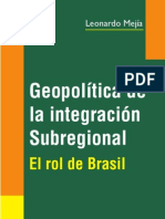 Libro Geopolitica Integracion Subregional Leonardo Mejia