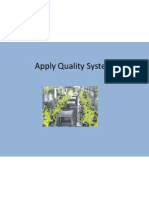 apply quality systems