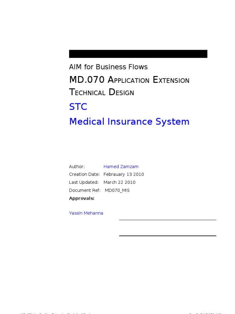 Md070 Document Template