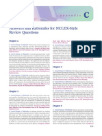 Answers and Rationales for NCLEX Style Review Questions