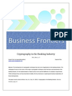 Cryptography in the Banking Industry