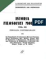 Istoria filosofiei moderne. Volumul 3 - Perioada contemporană