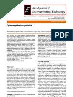 cytomégalovirus gastritis
