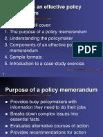 Policy Memorandum